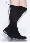 It's Tied Faux Suede Over-The-Knee Boots