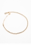 Small And Shiny Metallic Beaded Anklet