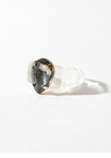 Clear Cache Chunky Faux Gem Ring