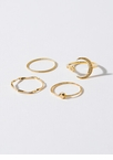 Over The Moon Skinny Ring Set