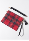 Good To Be Plaid Tasseled Flannel Clutch