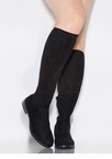 Amaze Me Flat Faux Suede Knee-High Boots