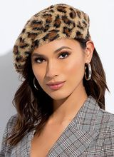 An American Leopard In Paris Furry Beret