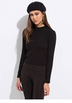 Basic Needs Long-Sleeved Fuzzy Knit Top