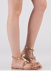 Bows Before Bros Caged Metallic Sandals