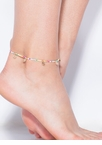 Can't Bead It Skinny Happy Face Anklet