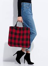 Check It Buffalo Plaid Flannel Tote Bag