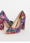 Chunky Town Pointy Snake Scale Pumps