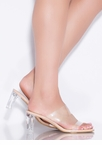 Clear As Day Faux Patent Lucite Heels