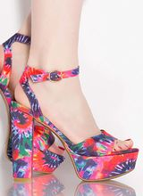 Color Theory Chunky Tie-Dye Platforms