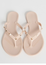 Edge Out Studded Jelly Thong Sandals