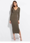 Everyday Button-Front Maxi Dress