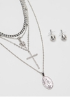 Faith In Me Jeweled Charm Necklace Set