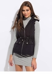 Fashion Forecast Hooded Zip-Front Vest
