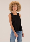 Fray On Double-Slit Tank Top