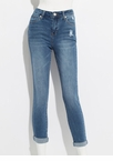 Give It To Me Straight-Leg Cuffed Jeans