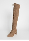 Huntress Chunky Lace-Up Thigh-High Boots