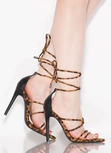 Lace-Up In Leopard Spotted Heels
