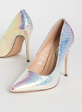 Mermaid Pointy Iridescent Scaled Pumps