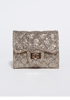 On-The-Go Glitter Chain-Strap Wallet