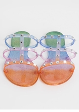 Sparkly Ombre Studded Jelly Sandals