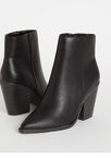 West End Chunky Faux Leather Booties