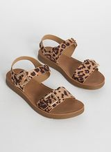 Wild Things Buckled Leopard Sandals