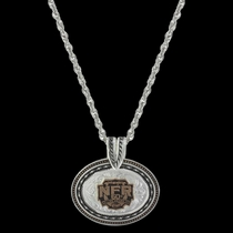2018 WNFR Shield Barbed Wire Concho Necklace