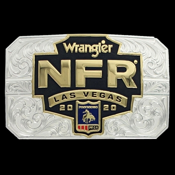 2020 Wrangler National Finals Rodeo Card Buckle