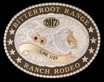 "Big Horn Lettering Trophy Buckle (5""x3.75"")"