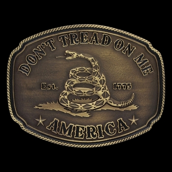 American Gadsden Don't Tread on Me Heritage Attitude Buckle (A515C)