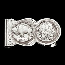 Buffalo Indian Nickel Scalloped Money Clip (MCL50)