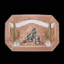 Desert Champion Cactus Trophy Buckle