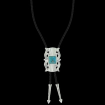 Gates of the Mountains Turquoise Bolo Tie