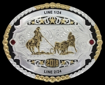 Helena Two Tone Trophy Buckle