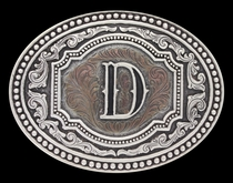 Initial D Two Tone Cameo Attitude Buckle (A518D)