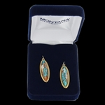 Lasting Impressions Mountain Glacier Turquoise Earrings