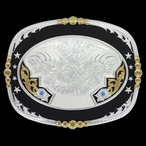 Regimental Two Tone Lettering Trophy Buckle