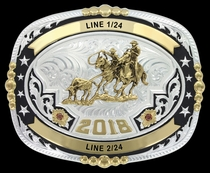 Regimental Two Tone Trophy Buckle