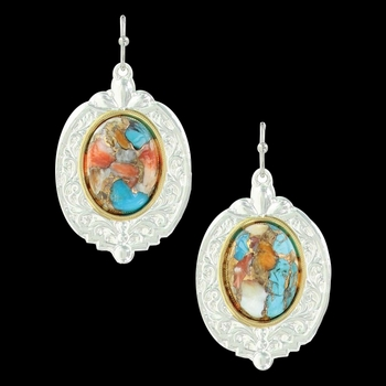 Sweet Memories Mountain Glacier Turquoise Earrings