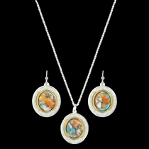 Sweet Memories Mountain Glacier Turquoise Jewelry Set