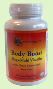 (coming soon)  Body Boost Mega Multi-Vitamin with Green Superfoods