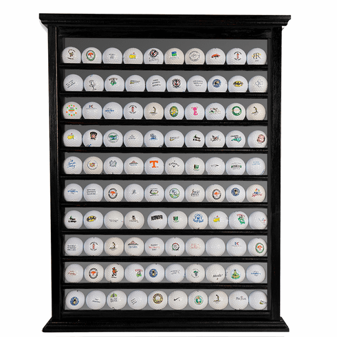 100 Golf Ball Display Rack - Black