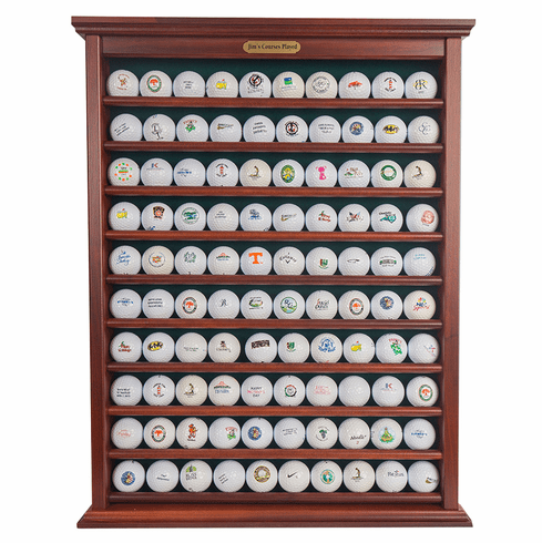 100 Golf Ball Display Rack - Red Mahogany