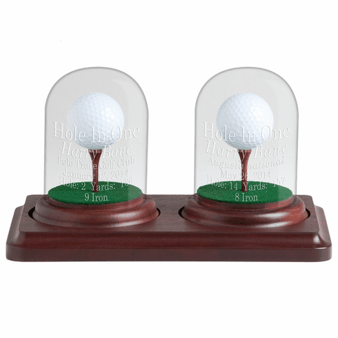 2 Holes in One Glass Dome Display