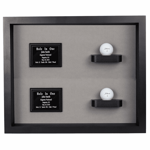 2 Holes in One Shadow Box Display-Black