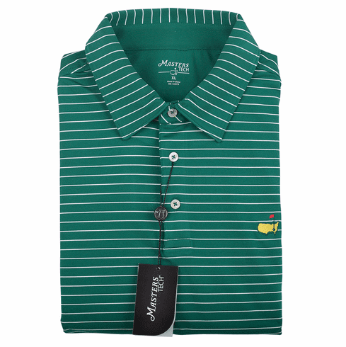 Masters Green Stripe Tech Collection Shirt