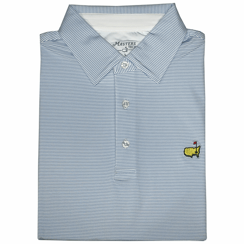 2020 Masters Sky Blue Striped Tech Collection Shirt