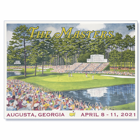 2021 Masters Commemorative Poster - The 15th Green