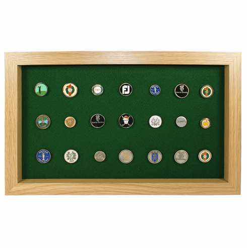 40 Golf Ball Marker Display - Oak